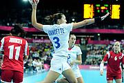 TDESCRIZIONE : France Hand Jeux Olympiques Londres <br /> GIOCATORE :  DANCETTE Blandine FRA<br /> SQUADRA : France Femme<br /> EVENTO : FRANCE Hand Jeux Olympiques<br /> GARA : FRANCE NORVEGE<br /> DATA : 28 07 2012<br /> CATEGORIA : Hand Jeux Olympiques<br /> SPORT : Handball<br /> AUTORE : JF Molliere <br /> Galleria : France Hand 2011-2012 Action<br /> Fotonotizia : France Hand France Hand Femme Jeux Olympiques Londres <br /> Predefinita :