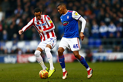 Thomas Ince of Stoke City makes a tackle on Collin Quaner of Ipswich Town - Mandatory by-line: Phil Chaplin/JMP - 16/02/2019 - FOOTBALL - Portman Road - Ipswich, England - Ipswich Town v Stoke City - Sky Bet Championship