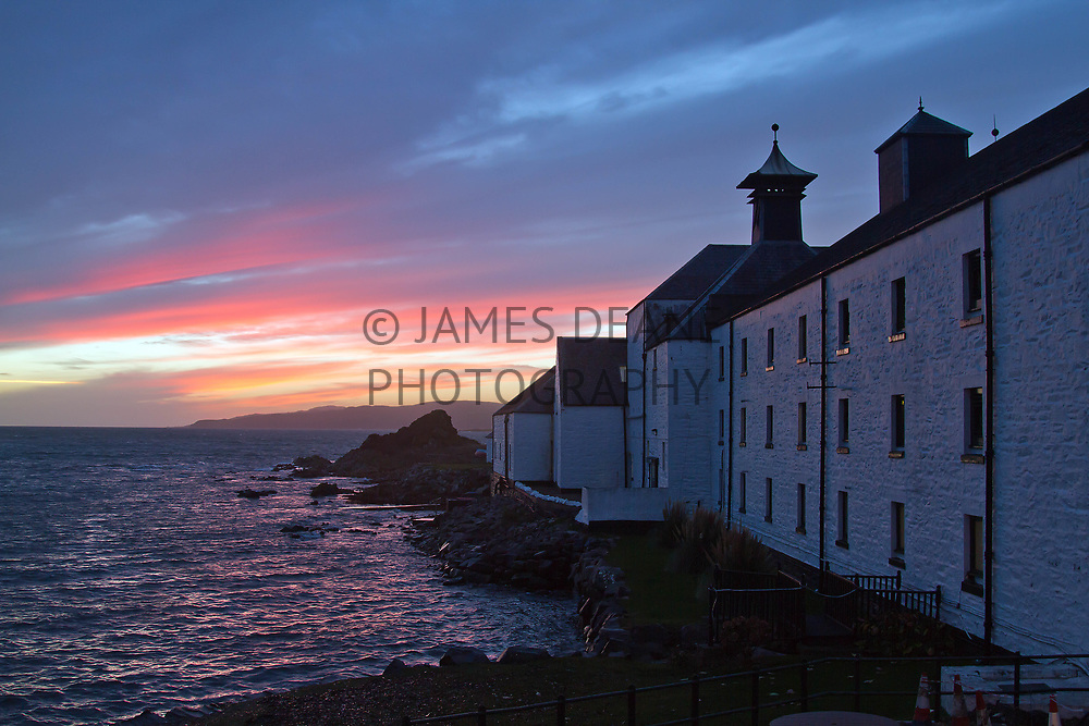 A late Winter afternoon at Laphroaig Distillery, Islay