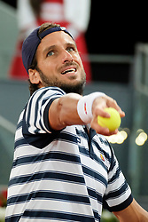 Feliciano Lopez  of Spain  against Novak Djokovic  of  Served during day six of the Mutua Madrid Open tennis at La Caja Magica on May 11, 2017 in Madrid, Spain. (Photo by Oscar Gonzalez/NurPhoto) *** Please Use Credit from Credit Field ***