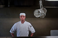 Chef James Miller photographed on location at The Oyster Catcher Restaurant, Anglesey.