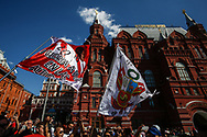 Peru Fans at Red Square during the 2018 FIFA World Cup Russia on June 15, 2018 in Moscow, Russia - Photo Thiago Bernardes / FramePhoto / ProSportsImages / DPPI