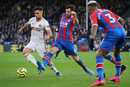 Sheffield United's George Baldock is challenged by Crystal Palace's Luka Milivojevic during the Premier League match at Selhurst Park, London. Picture date: 1st February 2020. Picture credit should read: Paul Terry/Sportimage
