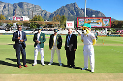 Cape Town-180322 Proteas captain Faf du Plessie won a toss and chose to bat first in the 3rd test of the Sunfoil cricket test against Australia at Newlands cricket stadium..Photograph:Phando Jikelo/African News Agency/ANA