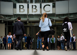 © Licensed to London News Pictures. 19/07/2017. London, UK. General view of BBC Broadcasting House in London where the BBC annual report is due to be published later this morning. The BBC is set to reveal for the first time the salaries of stars earning more than £150,000. Photo credit: Ben Cawthra/LNP