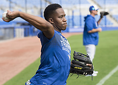 Toronto Blue Jays infielder Gift Ngoepe of South Africa - 13 Feb 2018