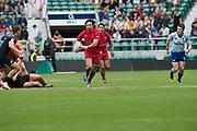 "Twickenham, Surrey United Kingdom. Canadian, Natham HIRAYAMA, in action during the Pool C match, Canada vs New Zealand at the  ""2017 HSBC London Rugby Sevens"",  Saturday 20/05/2017 RFU. Twickenham Stadium, England    <br /> <br /> [Mandatory Credit Peter SPURRIER/Intersport Images]"