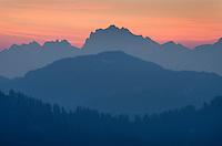 Ridges of North Cascades at dawn