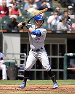 CHICAGO - MAY 19:  Randal Grichuk #15 of the Toronto Blue Jays bats against the Chicago White Sox on May 19, 2019 at Guaranteed Rate Field in Chicago, Illinois.  (Photo by Ron Vesely)  Subject:  Randal Grichik