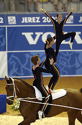 Team Suisse-Voltige<br /> World Equestrian Games Jerez de la Fronteira 2002<br /> Photo © Dirk Caremans