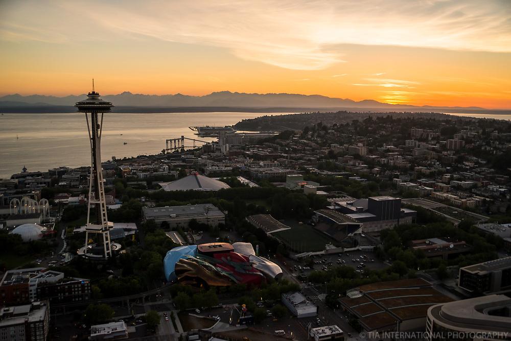 Seattle Center (left) & Queen Anne Hill