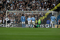 Photo: Dave Howarth.<br />Manchester City v Bolton Wanderers. The Barclays Premiership. 18/09/2005. Gary Speed puts the ball past David james in injury time