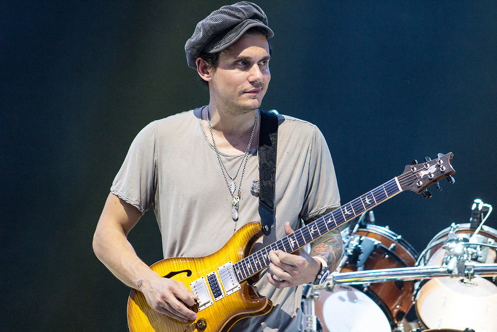 John Mayer performing with Dead & Company at Bonnaroo in Manchester, TN on June 12, 2016.