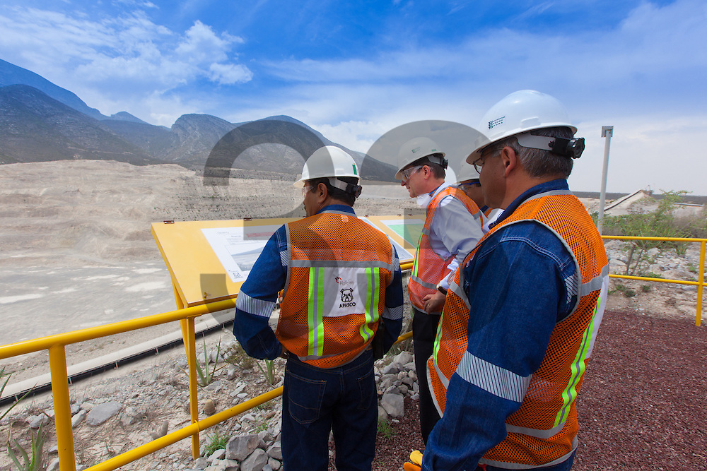 Bernard Fontana CEO of Holcim visit the Ramos Arizpe Cement plant in July 18th 2012 and ceremony of silver production award.