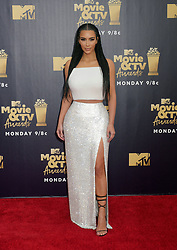 Kim Kardashian attending the 2018 MTV Movie and TV Awards held at the Barker Hangar in Los Angeles, USA.