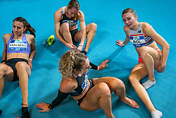 Eveline Saalberg, Eva Hovenkamp, Lieke Klaver, Femke Bol after the 400 meter during AA Drink Dutch Athletics Championship Indoor on 21 February 2021 in Apeldoorn.