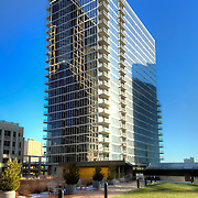 Recently completed One Light Tower residential high rise building in downtown Kansas City, MO. Co-developed by Cordish Company and Kushner Companies. Designed by Humphreys and Partners Architects. Built by general contractor JE Dunn construction.