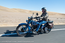 Fred Lange riding his 1929 Harley-Davidson JDH during Stage 15 (244 miles) of the Motorcycle Cannonball Cross-Country Endurance Run, which on this day ran from Lewiston, Idaho to Yakima, WA, USA. Saturday, September 20, 2014.  Photography ©2014 Michael Lichter.