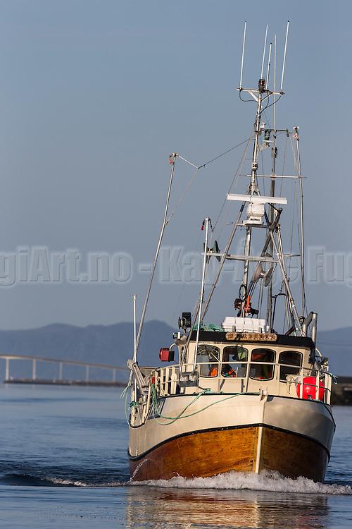 Fishingboat on it's way to the field   Fiskebåt på vei til feltet