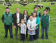 17/05/2015 . H.E. Mr Li Premier of the State Council,  People's Republic of China  visit this family Cathal Garvey from Ower Co. Mayo from kids from back left Paddy, Niamh, Cormac, and Michael with Donal and Grainne and mum Mary  . Photo: Andrews Downes XPOSURE