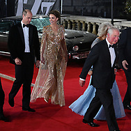 Tuesday 28 September 2021<br />Bond: No Time To Die - world film. premiere <br />The Royal Albert Hall<br />Prince William, Catherine Duke and Duchess of Cambridge, and Camilla and Charles Duke and Duchess of Cornwall