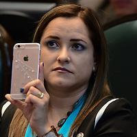 Toluca, México.- (Abril 06, 2017).- Arely Gómez, Diputado Local del PAN, durante la sesión ordinaria de la cámara de diputados en el Estado de México. Agencia MVT / Arturo Hernández.