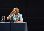 © Licensed to London News Pictures. 04/11/2011. London, UK. Theresa May, Home Secretary and Minister for Women and Equalities delivers a speech at The Commonwealth Club, London, today 4th November 2011, about government plans to support women's enterprise. Photo credit : Stephen Simpson/LNP