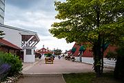 View of the Mission Point Resort, Mackinac Island, Michigan, USA.