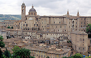 old city rooftops The Town Urbino in Italy
