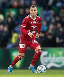 Frederik Gytkjær (Lyngby BK) under kampen i 3F Superligaen mellem Brøndby IF og Lyngby Boldklub den 1. marts 2020 på Brøndby Stadion (Foto: Claus Birch).