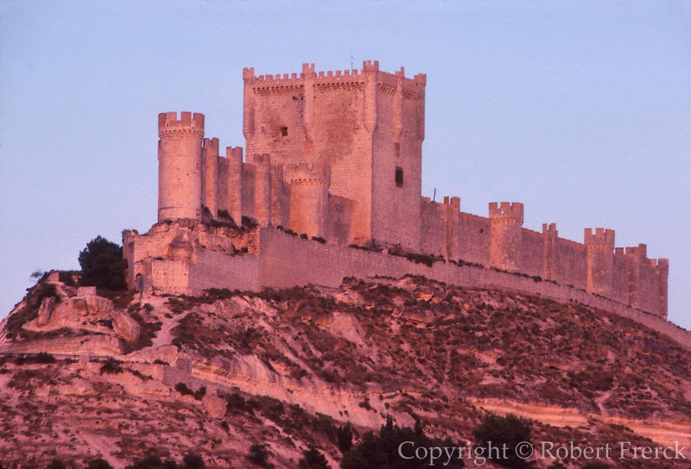 SPAIN, CASTILE  and amp; LEON Penafiel Castle, above Duero River