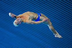 Jesper Tolvers of Sweden competes in the Mens 10m Platform preliminary - Mandatory byline: Rogan Thomson/JMP - 15/05/2016 - DIVING - London Aquatics Centre - Stratford, London, England - LEN European Aquatics Championships 2016 Day 7.