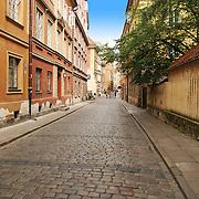 Warsaw old brick street pavement