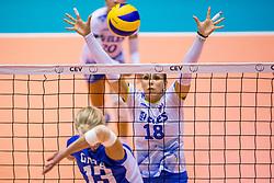 23-08-2017 NED: World Qualifications Greece - Slovenia, Rotterdam<br /> SloveniÎ wint met 3-0 / Sasa Planinsec #18 of Slovenia<br /> Photo by Ronald Hoogendoorn / Sportida