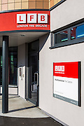 The entrance to Walthamstow Fire Station. Opened in 2012 after London the Fire Brigade spent 7.5 million pounds building it.