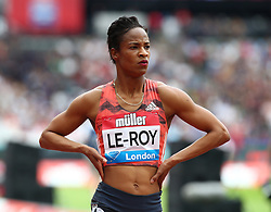 July 22, 2018 - London, United Kingdom - Anastasia Le-Roy of Jamaica after  the 400m Women race.during the Muller Anniversary Games IAAF Diamond League Day Two at The London Stadium on July 22, 2018 in London, England. (Credit Image: © Action Foto Sport/NurPhoto via ZUMA Press)