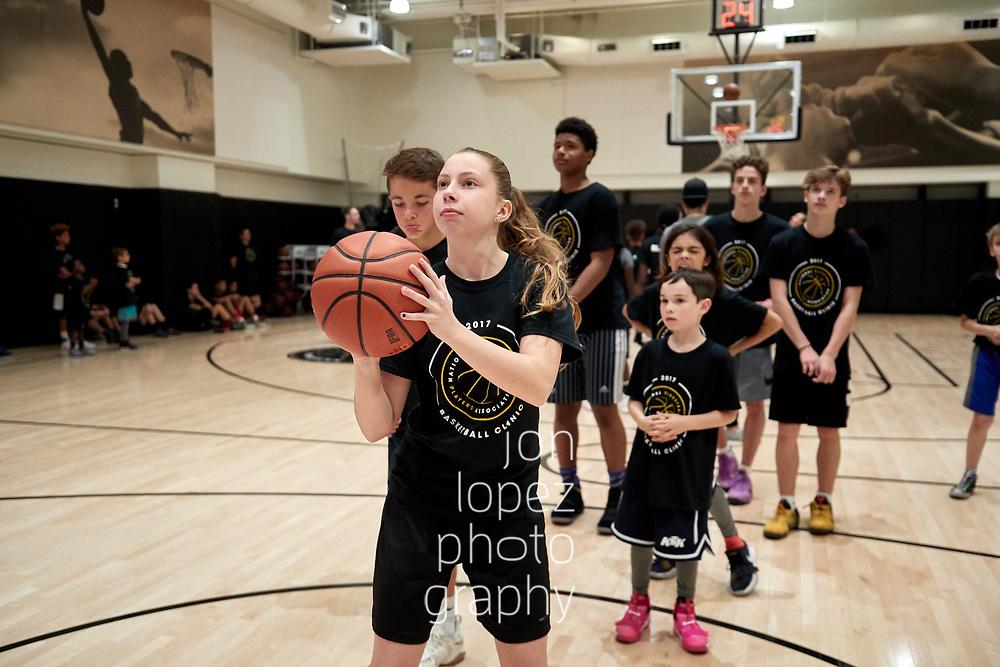NEW YORK, NY. Saturday, October 28, 2017. NBPA basketball clinic. NOTE TO USER: Mandatory Copyright Notice: Photo by Jon Lopez