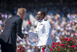 May 24, 2019 - Annapolis, Maryland, U.S. - U.S. Acting Secretary of Defense Patrick M. Shanahan participates in the U.S. Naval Academy's 2019 graduation and commissioning ceremony in Annapolis, Md., May 24, 2019. Shanahan delivered the key note address and congratulated graduates during the ceremony. (Credit Image: © U.S. Army/ZUMA Wire/ZUMAPRESS.com)