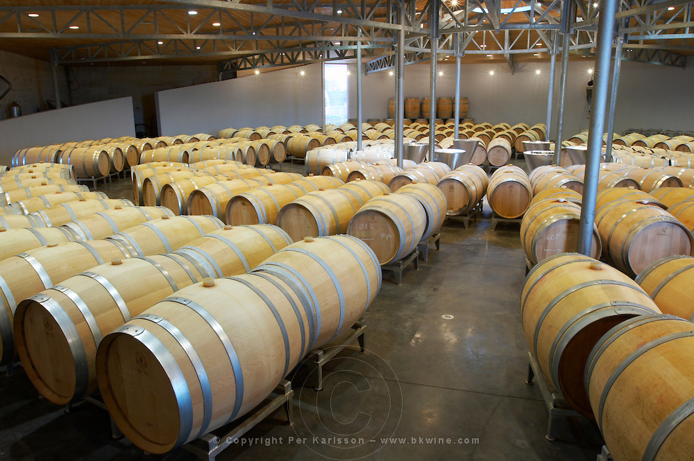 circular barrel aging cellar ch gd barrail lamarzelle figeac saint emilion bordeaux france