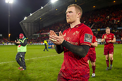 December 30, 2018 - Limerick, Ireland - Keith Earls of Munster thanks his fans during the Guinness PRO14 match between Munster Rugby and Leinster Rugby at Thomond Park in Limerick, Ireland on December 29, 2018  (Credit Image: © Andrew Surma/NurPhoto via ZUMA Press)