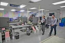 There was not much activity going on at around 3 p.m. at the Miami-Dade Election Center Ballot Scanning room on Tuesday, November 13, 2019. Photo by C.M Guerrero/Miami Herald/TNS/ABACAPRESS.COM