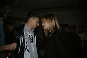 HEDI SLIMANE AND Rosario Saxe Coburg , Party hosted by Larry Gagosian at Nobu, Berkeley St. London. 9 October 2007. -DO NOT ARCHIVE-© Copyright Photograph by Dafydd Jones. 248 Clapham Rd. London SW9 0PZ. Tel 0207 820 0771. www.dafjones.com.