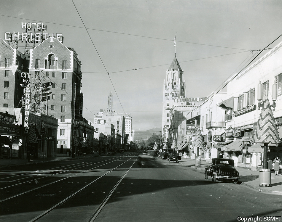 1931 Looking west on Hollywood Blvd. towards McCadden Pl.