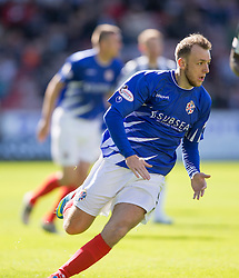 Cowdenbeath's Greig Spence. <br /> Dunfermline 5 v 1 Cowdenbeath, Scottish League Cup game played today at East End Park.