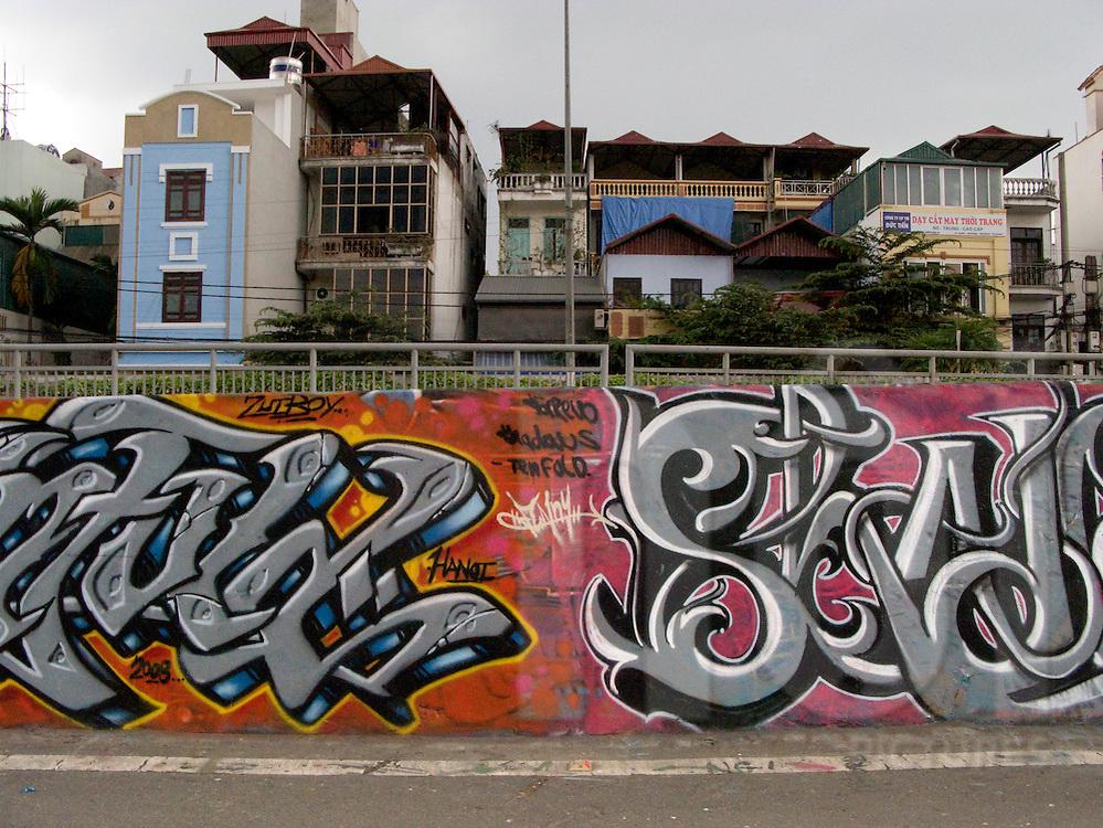 Graffiti in Hanoi, Vietnam. S5 crew..Shadows.Zui boy.Minsk