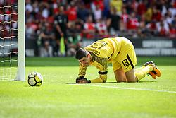 Chelsea goalkeeper Thibaut Courtois - Arsenal FC v Chelsea FC, FA Community Shield, Wembley National Stadium, Aug 06 2017, Photography: © 2017 Nick Shepherd/Chateau Media - EDITORIAL USE ONLY