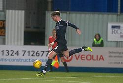 Falkirk's Jordan McGhee scoring their second goal. Falkirk 2 v 0 Ayr United, Scottish Championship game played 8/3/2019 at The Falkirk Stadium.