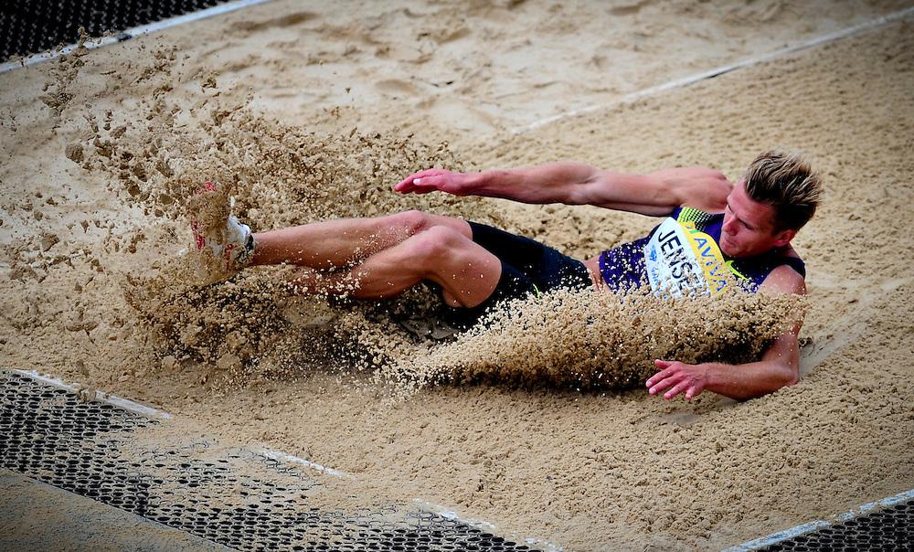 Denmark's Jensen Morten competes in the men's long jump