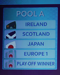 KYOTO, JAPAN - MAY 10: A view of Pool A during the Rugby World Cup 2019 Pool Draw at the Kyoto State Guest House on May 10, in Kyoto, Japan. Photo by Dave Rogers - World Rugby/PARSPIX/ABACAPRESS.COM