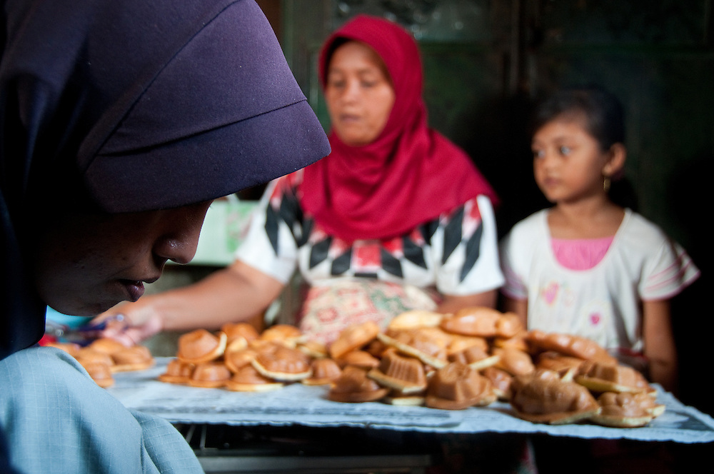 Banda Aceh, Sumatra, Women of this region are known for their strength, and those who have survived both the tsunami and 30 years of conflict are now building a better life through support groups and micro businesses, such as baking.